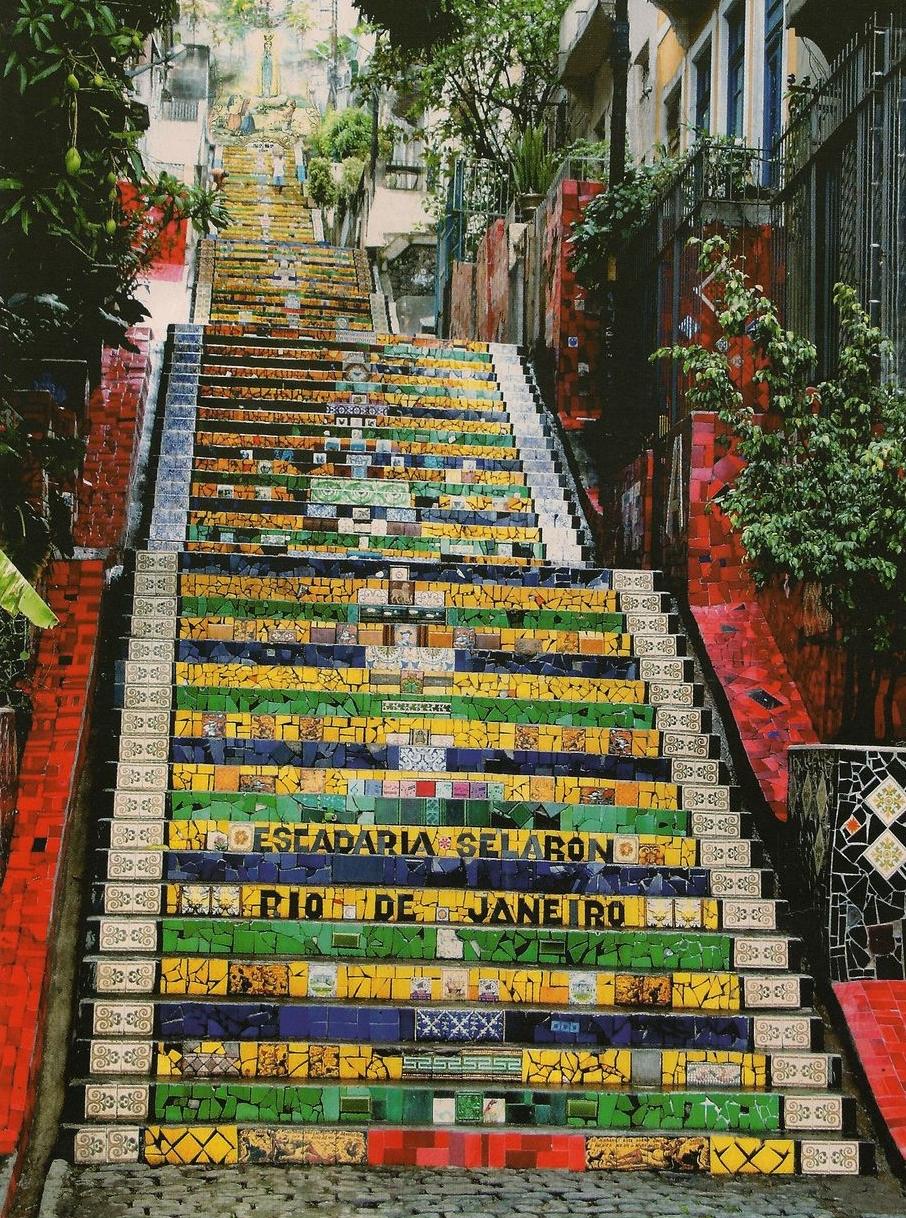 UM DIA NO RIO - escadaria selaron